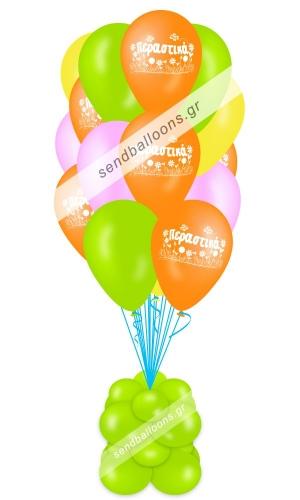 15 μπαλόνια περαστικά 4 χρώματα