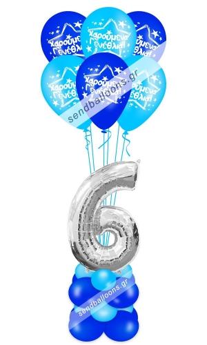 Φιγούρα μπαλόνι αριθμός έξι