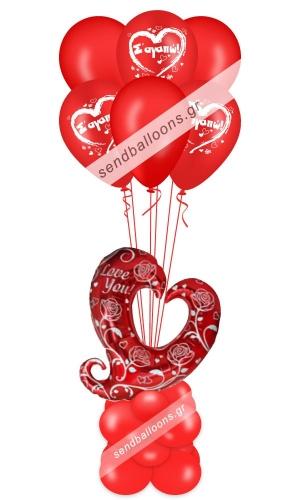 Μπαλόνι καρδιά love για ερωτευμένους