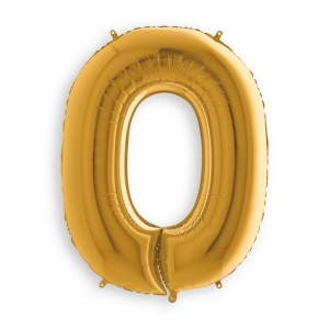 Μπαλόνι αριθμός 0 χρυσό 102 εκατοστά