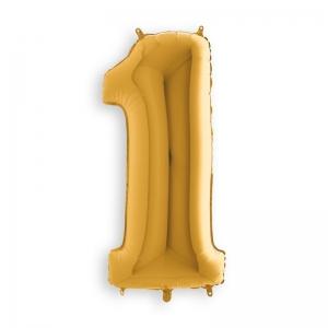Μπαλόνι αριθμός 1 χρυσό 70 εκατοστά
