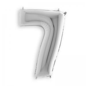 Μπαλόνι αριθμός 7 ασημί 102 εκατοστά