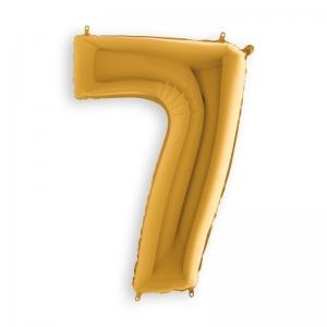 Μπαλόνι αριθμός 7 χρυσό 102 εκατοστά