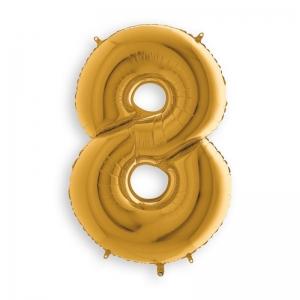 Μπαλόνι αριθμός 8 χρυσό 102 εκατοστά