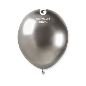 Μπαλόνι λαμπερό ασημί 5 ιντσών