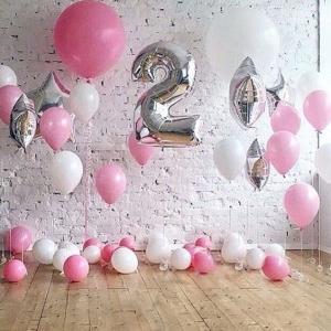 Μπαλόνια ασημί αριθμοί