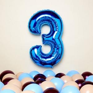 Μπαλόνια μπλε αριθμοί