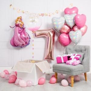 Μπαλόνια ροζ χρυσό αριθμοί