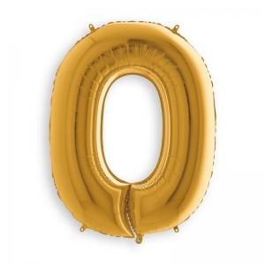 Μπαλόνι αριθμός 0 χρυσό 36 εκατοστά