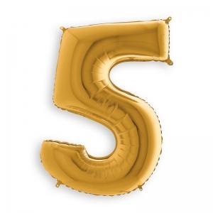 Μπαλόνι αριθμός 5 χρυσό 36 εκατοστά